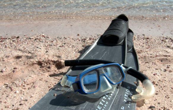 udstyr til snorkling - ABC